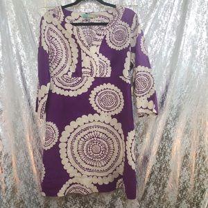 | BODEN | Linen Purple Dress